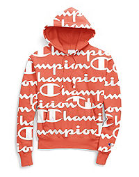 59a7367a Champion Life® Men's Reverse Weave® Pullover Hood, All-over Logo