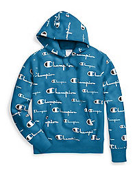 e9f7a752719846 Champion Life® Men's Reverse Weave® Pullover Hood, All-over Logo. New Fall  Colors
