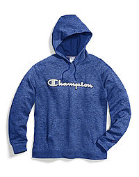 Champion Men's Stadium Fleece Pullover Hood, Logo Applique