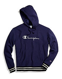 Champion Life® Men's Reverse Weave® Yarn Dye Rib Trim Pullover Hoodie, Vintage Logo