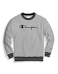 Champion Life® Men's Reverse Weave® Yarn Dye Rib Trim Crew, Vintage Logo