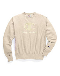 Exclusive Champion Life® Men's Crew, Chainstitch C Logo
