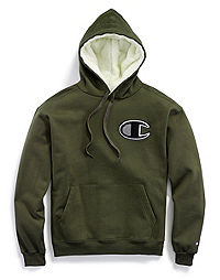 Champion Life® Men's Super Fleece 2.0 Sherpa Lined Cone Hood, Chenille logo