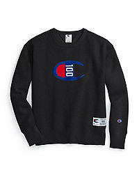 Champion Century Collection Men's Crew, C100 Felt Logo