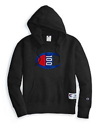 Champion Century Collection Men's Hoodie, C100 Felt Logo