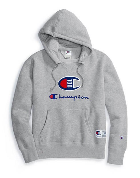 82fa3029 Champion Century Collection Men's Hoodie, C100 Chenille Logo | Champion