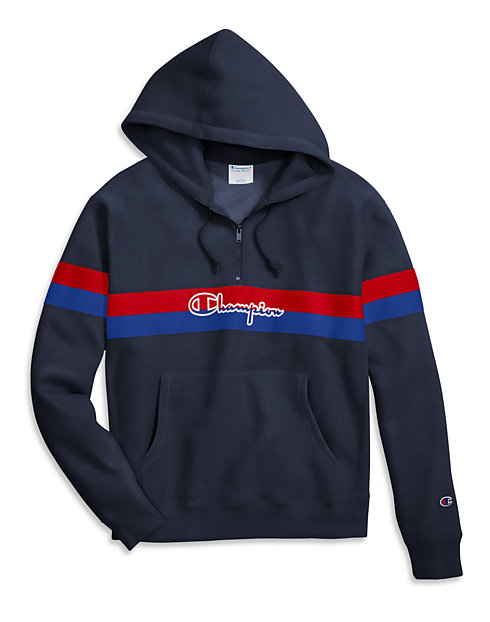 Champion Life® Men's Reverse Weave® Yarn Dye Half Zip Hoodie