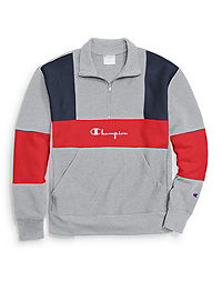 Champion Life® Men's Reverse Weave® Colorblock Half Zip Sweatshirt