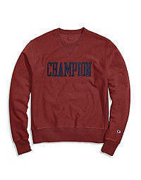 Champion Life® Men's Vintage Wash Reverse Weave® Crew, Satin Block Logo