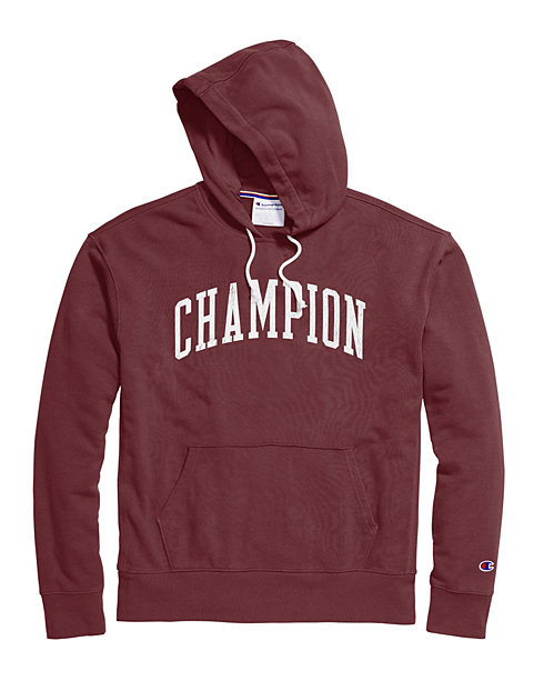 Champion Men's Heritage French Terry Pullover Hoodie, Arch Logo