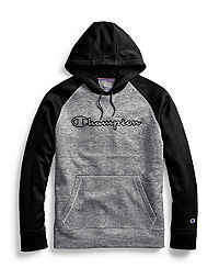 Champion Men's Stadium Fleece Hoodie, Clear Gloss Gel Logo