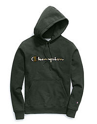 Champion Life® Men's Super Fleece 2.0 Pullover Hood, Metallic Gold Logo