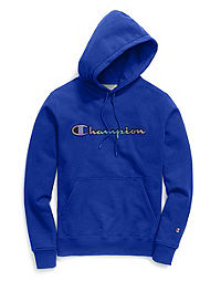 Champion Life® Men's Super Fleece 2.0 Pullover Hood, Reflective Iridescent Logo