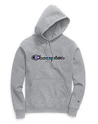Champion Life® Men's Super Fleece 2.0 Pullover Hood, Reflective Iridescent Logo