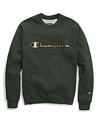 Champion Life® Men's Super Fleece 2.0 Crew,  Metallic Gold Logo