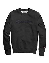 Champion® Men's Super Fleece 2.0 Crew, Quilted Logo