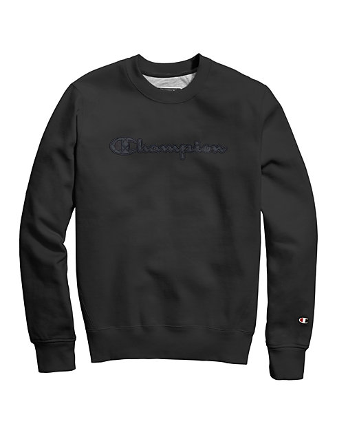 Champion® Men's Super Fleece 2.0 Crew, Quilted Logo