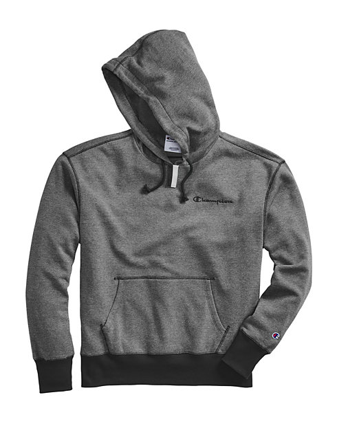 Champion Men's Heritage Heather YC Hoodie, Embroidered Logo