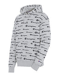 Champion Men's Powerblend Hoodie, All Over Logo
