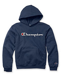 Champion Double Dry® Action Youth Fleece Pullover Logo Hood