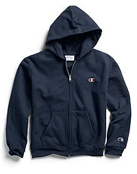 Champion Double Dry® Action Youth Full Zip Logo Hood