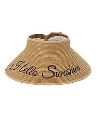 """JMS """"Hello Sunshine"""" Roll-Up Paper Braid Visor"""