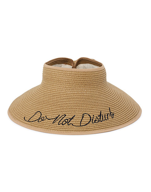"JMS ""Do Not Disturb"" Roll-Up Paper Braid Visor"