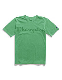 Champion Life® Men's Garment Dyed Tee, Clear Gel Logo