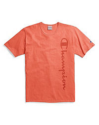 Champion Life® Men's Garment Dyed Tee, Vertical Clear Gel Logo