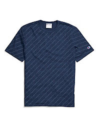 38224934 Champion Men's Heritage Tee, Allover Logo. NEW