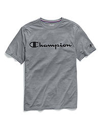 a703b7cd2 Champion Men's Double Dry® Heather Mesh Textured Tee, Script Logo