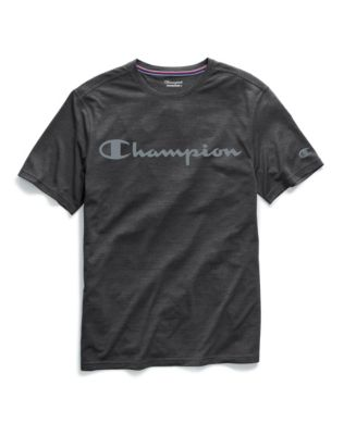 Champion Men's Double Dry® Heather Mesh Textured Tee, Script Logo