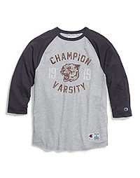 Champion Men's Heritage Baseball Slub Tee, Champion Panther