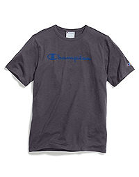 Champion Men's Heritage Slub Tee, Flocked Logo