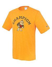 Champion Men's Heritage Slub Tee, Mascot Bulldog