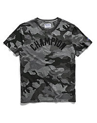 Champion Men's Vintage Dye Short-Sleeve Camo Tee, Arch Logo
