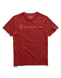 Champion Men's Vintage Dye Tee, Script Logo