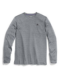 Champion Double Dry® Men's Heather Mesh-Texture Long-Sleeve Tee
