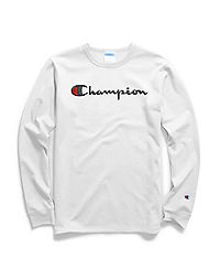 20b74576451f Champion Life® Men's Long-Sleeve Tee, Script Logo