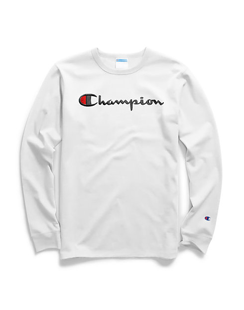 9fb7dbc8 Champion Life® Men's Long-Sleeve Tee, Script Logo | Champion