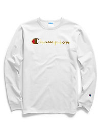 Champion Life® Men's Long-Sleeve Tee, Gold Script Logo