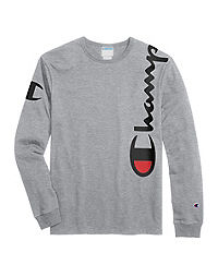 ed04eed2 Champion Life® Men's Heritage Long-Sleeve Tee, Over The Shoulder Logo