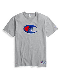 Champion Century Collection Men's Tee, C100 Felt Logo
