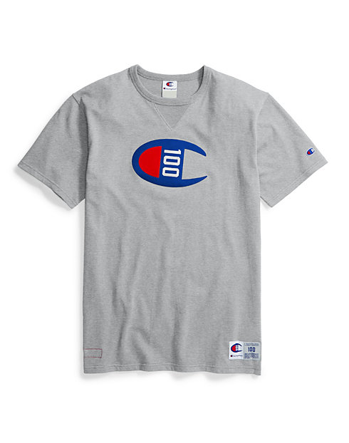 f2e1ceaf Champion Century Collection Men's Tee, C100 Felt Logo | Champion