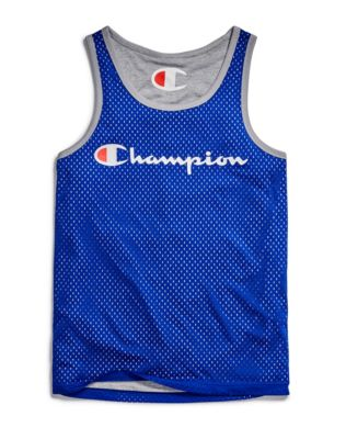 Champion Men's Reversible Mesh Tank, Script Logo