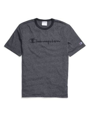 Champion Men's Heritage Heather Tee, Script Logo