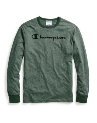 Champion Men's Heritage Heather Long-Sleeve Tee, Script Logo