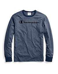 Champion Men's Heritage Heather Long-Sleeve Tee, Script Logo