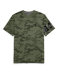 Champion Men's Camo Mesh Tee, Block Logo
