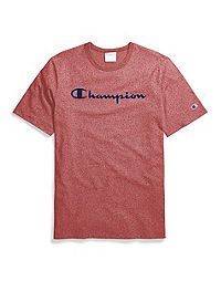 Champion Life® Men's Mock Twist Tee, Velour Script Logo